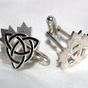 Celtic Maple Leaf Cufflinks