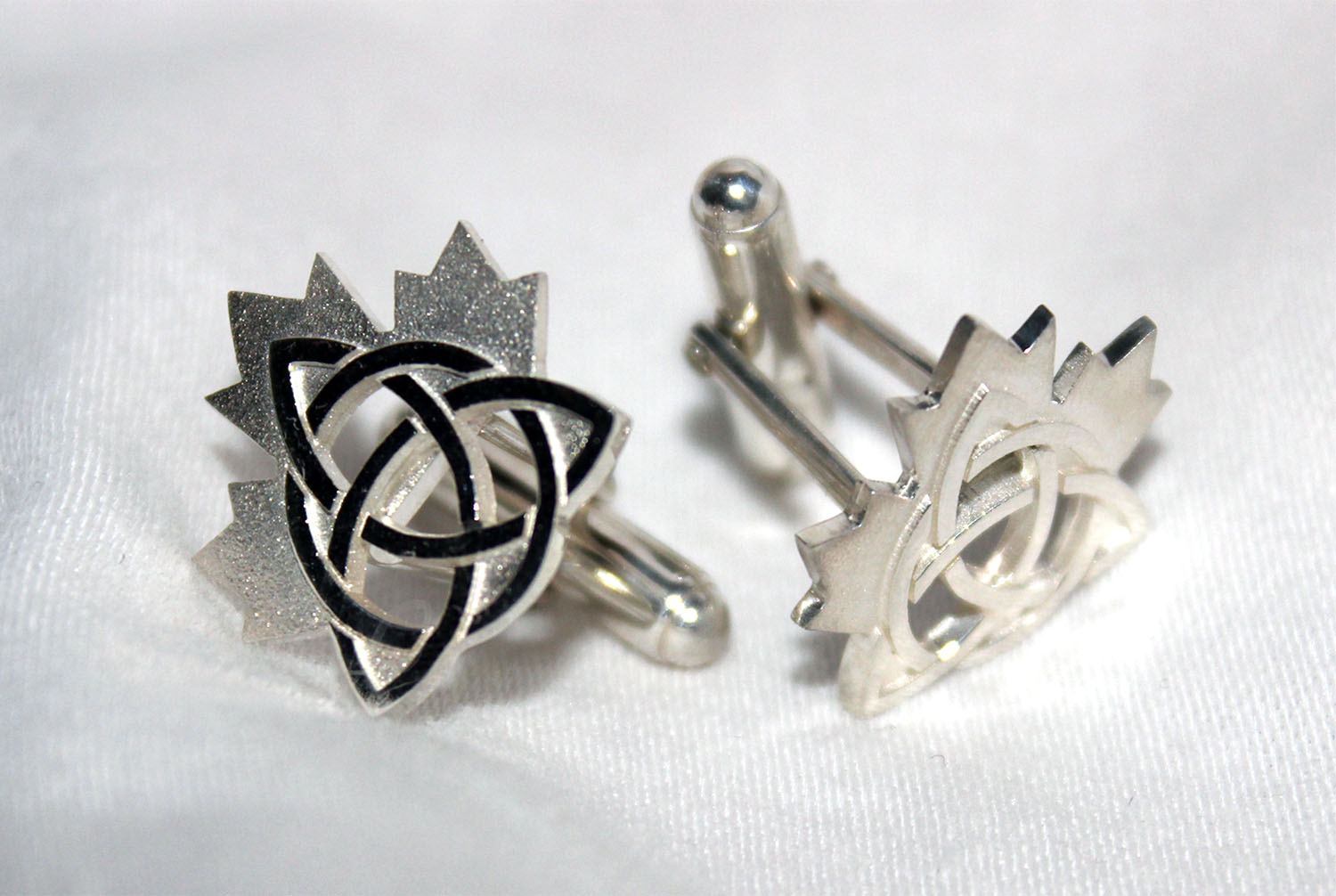 Celtic Maple Leaf Cufflinks