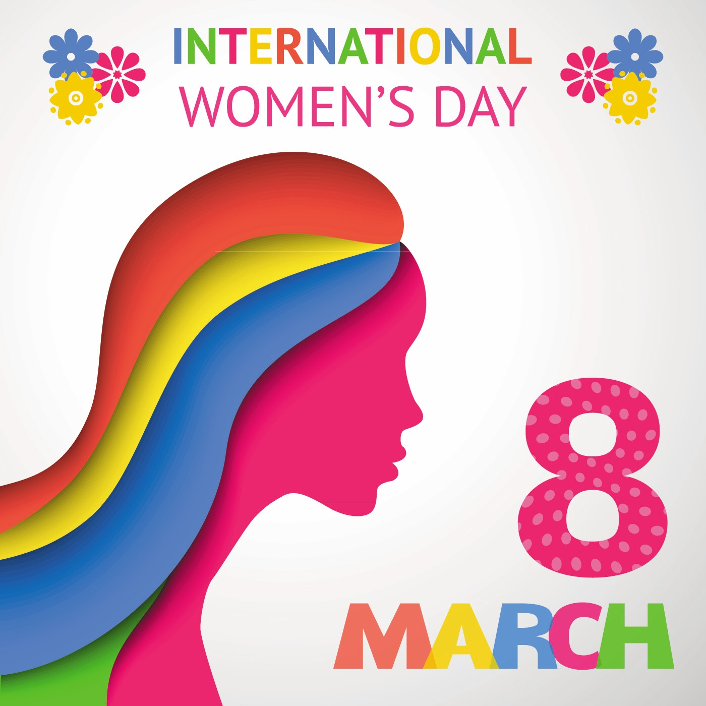 International Womens Day 8 March Vectors Themes Greetings Cards