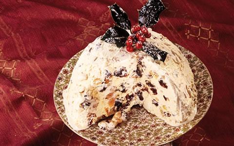 Ice Cream Pudding, Christmas Pudding,