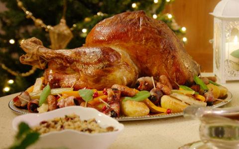 Turkey, Christmas Turkey, Chestnut Stuffing,